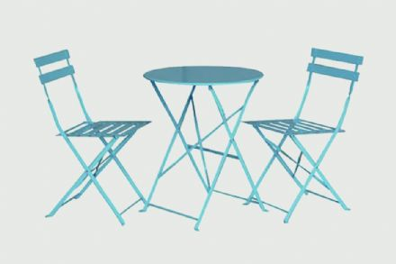 SupaGarden Folding Bistro Set - Blue